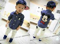 Setelan Anak Laki Laki Baju Kemeja Micky Mouse Celana