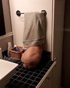 he thinks he s hiding and won t to take a bath