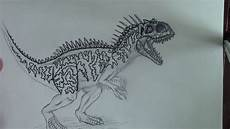 jurassic world indominus rex drawing at paintingvalley