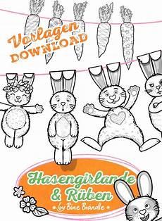 malvorlagen grundschule ostern hasengirlande bine br 228 ndle vorlagen bines shop