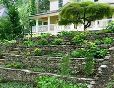 Hillside Landscaping Tiering An Existing Rock Wall