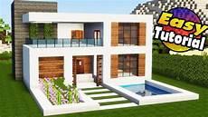 Easy Minecraft Houses Step By Step Modern House
