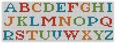 lettere punto croce per bavette scritte a punto croce per bavaglini
