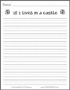 writing worksheets for 3rd grade free 22915 if i lived in a castle free printable k 3 writing prompt student handouts