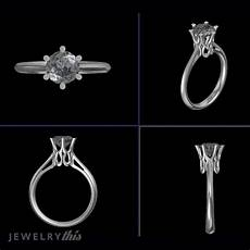 3d jewelry design engagement ring single stone 187 jewelrythis