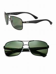 lyst ban 59mm square aviator sunglasses in black for