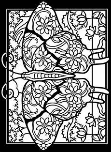 stained glass coloring pages and print