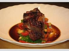 five spice duck breasts with vegetable sticks_image