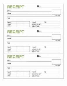 rent receipt book three receipts per page microsoft word template templats receipt