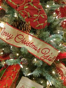 christmas ribbon 4 quot natural burlap embroidered merry christmas y all rb1038 ebay
