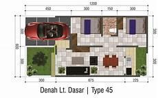 Baru 54 Desain Rumah Minimalis Type 45 2 Kamar Tidur