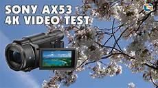 sony fdr ax53 4k test sonyax53
