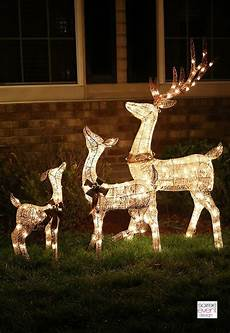 Outdoor Lighted Reindeer Decorations by Decorate Your Home With Outdoor Decor From Big