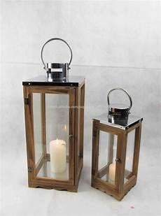 lanterne en bois lanterne en bois avec plateau en acier inoxydable