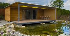 Holz Fertighaus Bungalow - bungalow poolhaus baufritz g 228 stehaus wohnbungalow