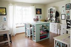 craft room table ideas white modern craft table aqua diy projects