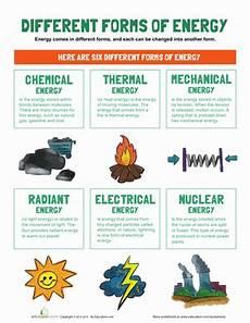 types of energy worksheet types of energy worksheet education
