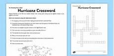 hurricane crossword worksheet worksheet teacher made