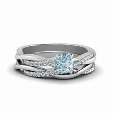 twisted aquamarine wedding in 18k white gold fascinating diamonds