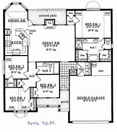 1500 square foot ranch house plans ranch style house plan 4 beds 2 baths 1646 sq ft plan