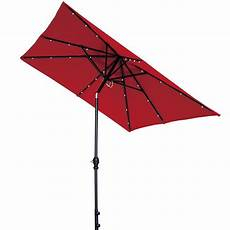 9 by 7 feet rectangular patio umbrella with solar powered 32 led lights ebay