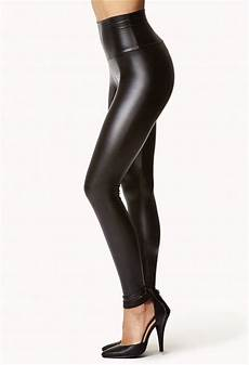 High Waist Faux Leather forever 21 faux leather high waist in black lyst