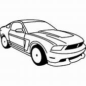 Mustang Racing Car Coloring Pages