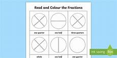 halving shapes worksheet eyfs 1106 fractions year 1 read and colour worksheet made