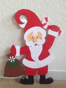 fensterbild tonkarton weihnachtsmann winter weihnachten