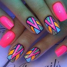 pin by jodi bieler on nails colorful nail art bright