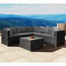 Gartenmöbel Polyrattan Lounge - polyrattan gartenm 246 bel lounge sitzgruppe nassau mit