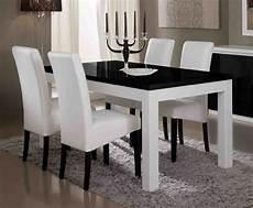 Table De Repas Firenze Blanc Noirl 190 X H 76 X P 90