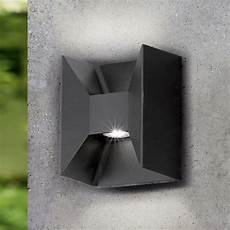eglo 93319 morino black cube led exterior up and down wall light