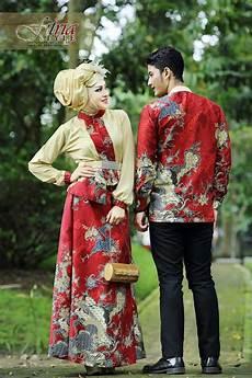Baju Muslim Cauple Batik Silk kamajaya kamaratih gold baju muslim gamis modern