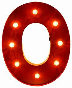 marquee led lighted letter quot o quot battery contemporary