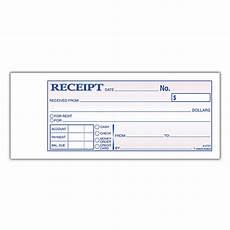 moneyrent receipt books 7 316 2 34 2 part carbon 50 book by office depot officemax
