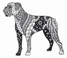 Malvorlage Hund Mandala Kostenloses Ausmalbild Hund Boxer Die Gratis Mandala