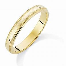 9ct gold wedding ring with pattern edge chester
