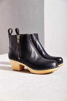 swedish hasbeens zip it emy ankle boot in black lyst