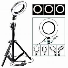 16cm 2700k 5500k Dimmable Ring Light by 10inch 26cm Led Ring Light Photo Studio Dimmable