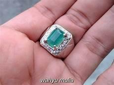 Zamrud Emerald Beryl 2 5 Ct batu cincin zamrud emerald beryl kotak asli kode 794