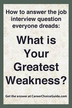 what are your greatest weaknesses ace this tough
