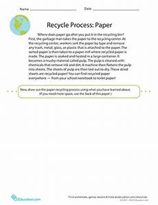recycling paper process worksheet education com