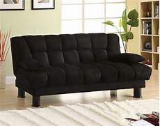 futon black furniture of america bethel black microfiber futon sofa