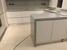 kitchen corian corian warm grey kitchen solid surface with waterfall