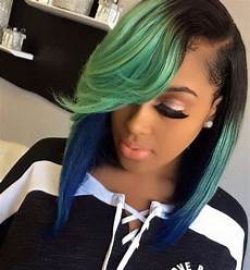 sew in weave hairstyles with color