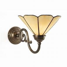 traditional aged brass single wall light with