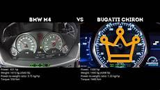bmw m4 0 100 bmw m4 vs bugatti chiron 0 100 km h
