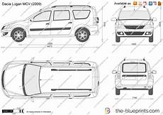 Dacia Logan Mcv Vector Drawing