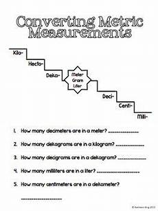 worksheets on measurement for 5th grade 1548 metric units of measure journal math measurement math charts math journals